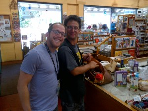 Jesse and David at Rainbow Bridge Natural Foods
