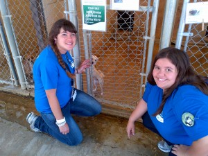Shaina and Ariel at the Humane Society