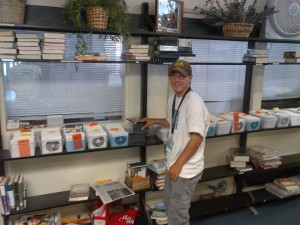 Zach Working at the Ojai Public Library