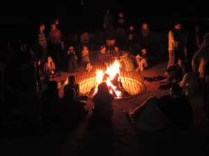 2014 Winter Leadership Training Conference - campfire