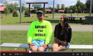 Marni Foster, Rosh Tikvah, interviews Asher Brown about his participation in the Tikvah Avodah Program